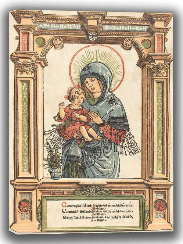 Altdorfer, Albrecht: The Beautiful Virgin of Regensburg. Fine Art Canvas. Sizes: A4/A3/A2/A1 (004080)